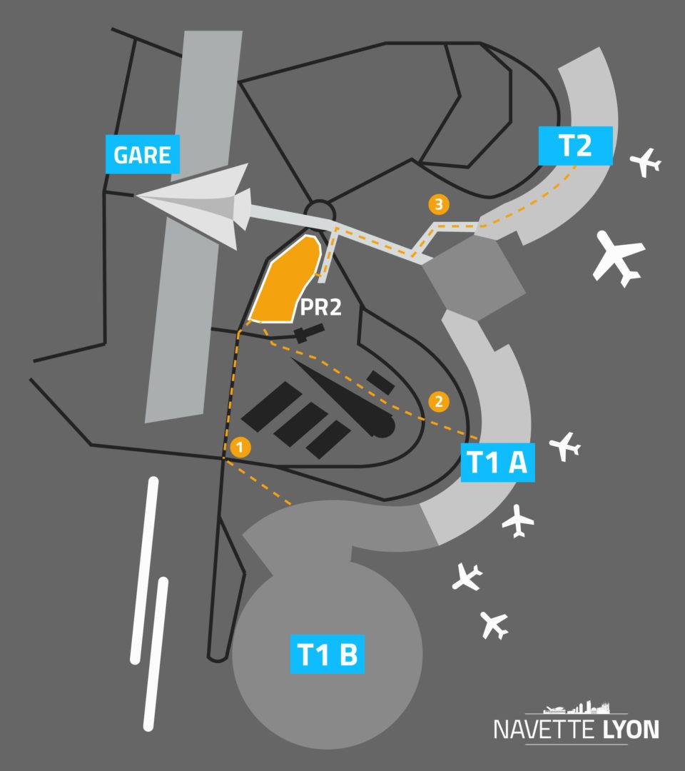 Accès PR2 Aéroport