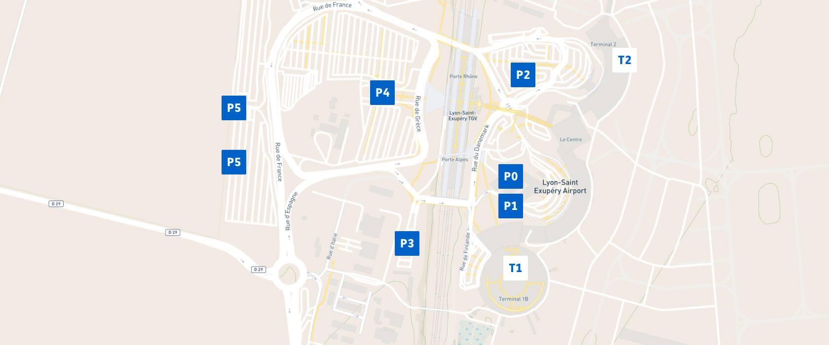 aéroport lyon parkings